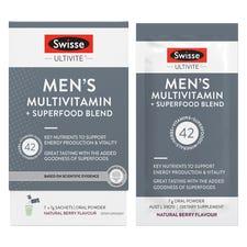 SWISSE ULTIVITE MEN'S MULTIVITAMIN + SUPERFOOD BLEND