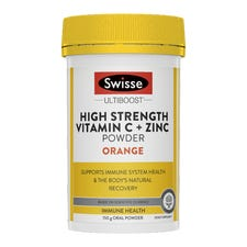 SWISSE ULTIBOOST HIGH STRENGTH VITAMIN C + ZINC POWDER ORANGE
